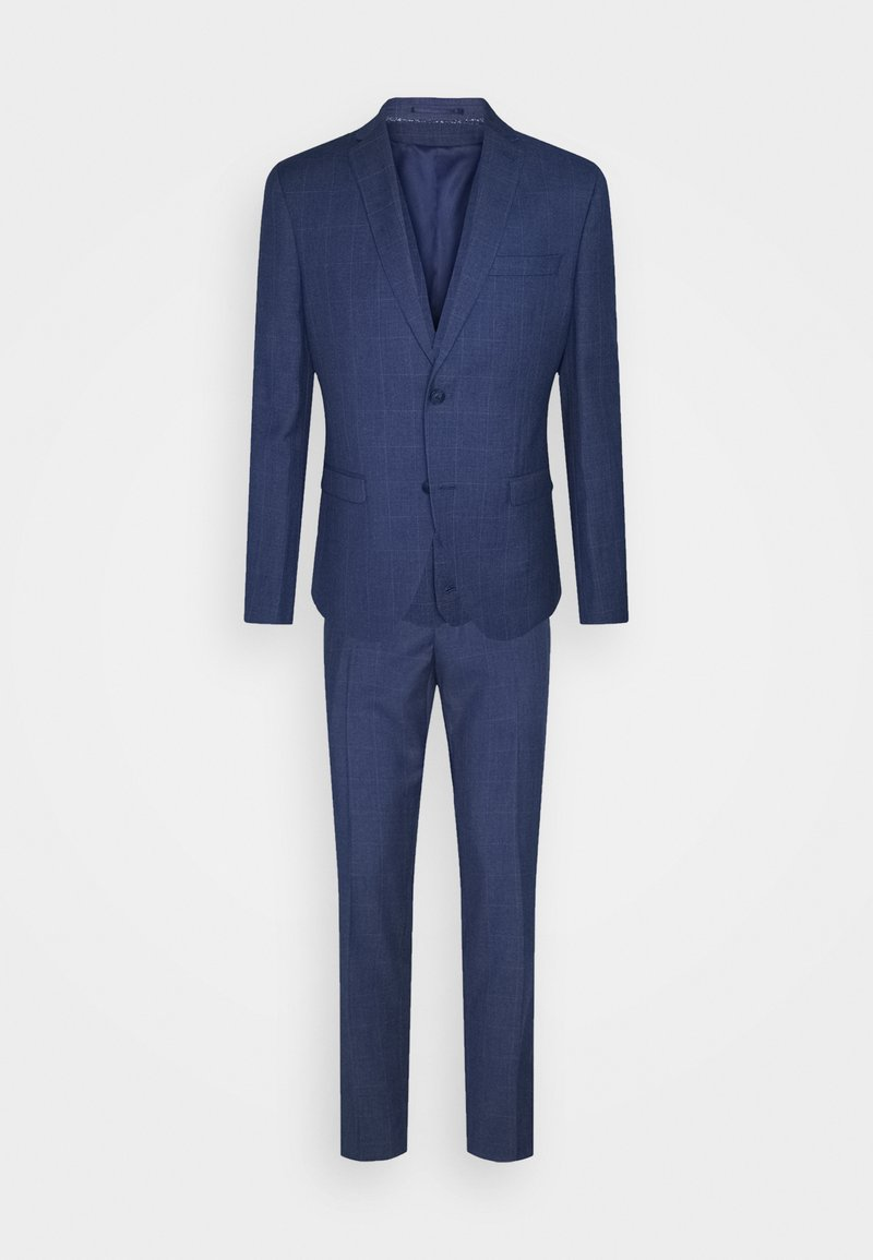 Isaac Dewhirst - THE FASHION SUIT 3 PIECE WINDOW CHECK SET - Completo - blue