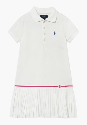 POLO DRESS - Denní šaty - white