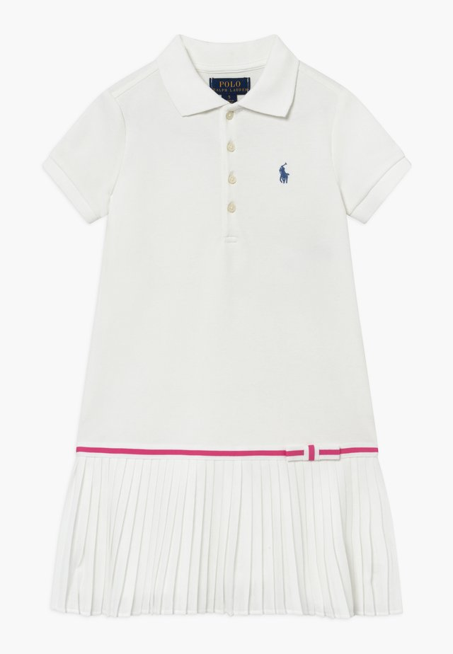 POLO DRESS - Freizeitkleid - white