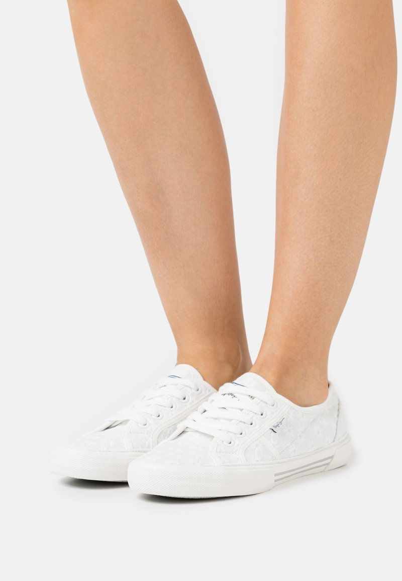 Pepe Jeans - ABERLADY LACE - Trainers - white