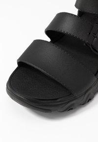 Skechers Sport - CALI - Platform sandals - black - 2