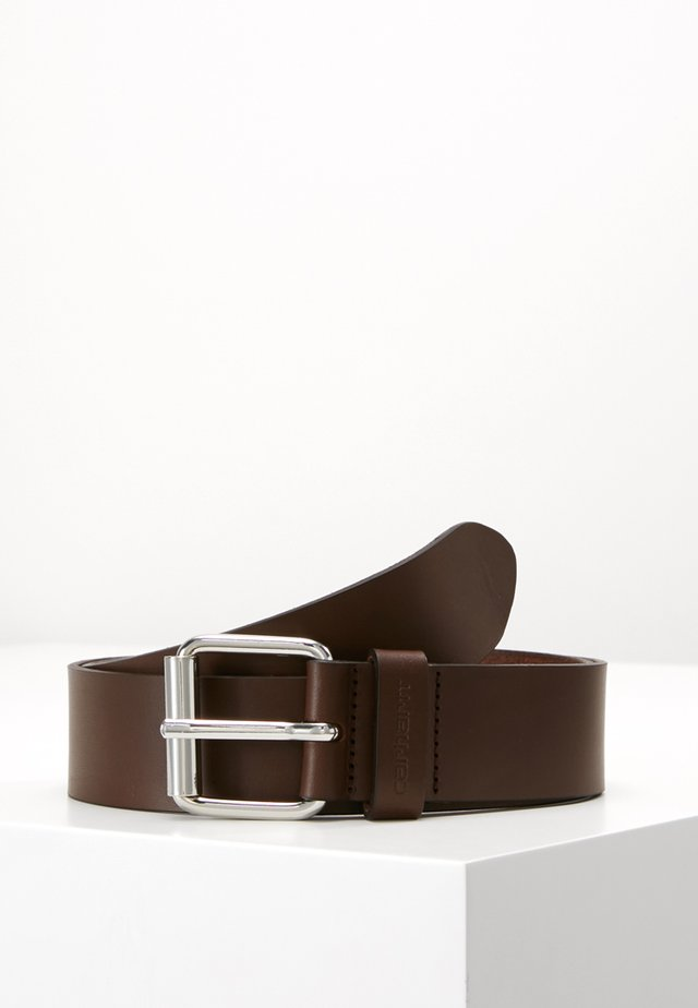 SCRIPT BELT  - Pásek - dark brown/silver-coloured