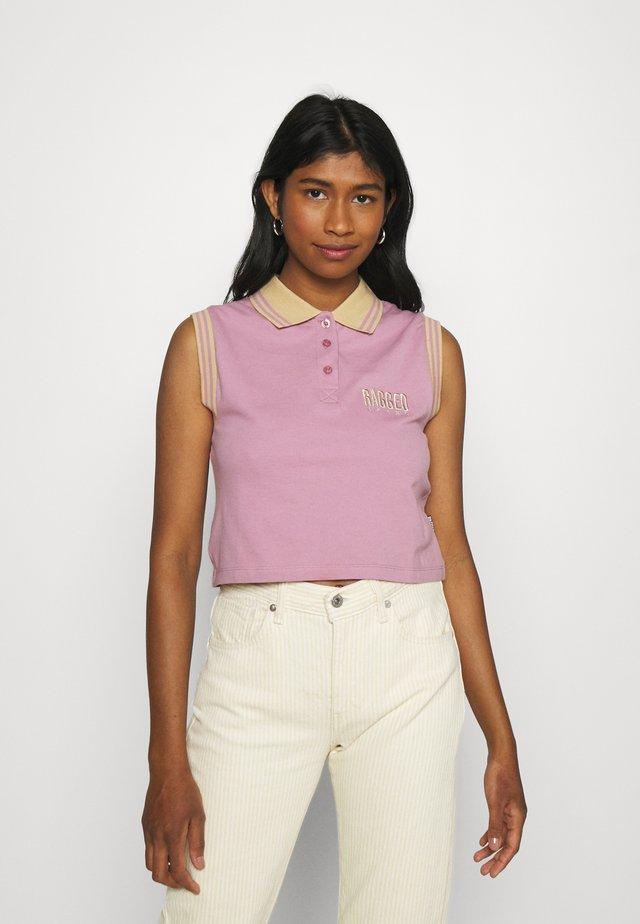 DUTY TEE - T-shirt print - purple/beige