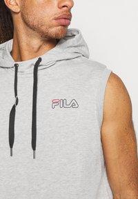 Fila - LUX SLEEVELESS HOODIE - Sweat à capuche - light grey - 5