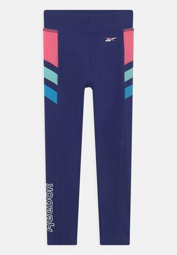 BLOCK FULL  - Leggings - Trousers - navy