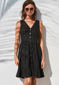 Next - TIERED  - Day dress - black - 0