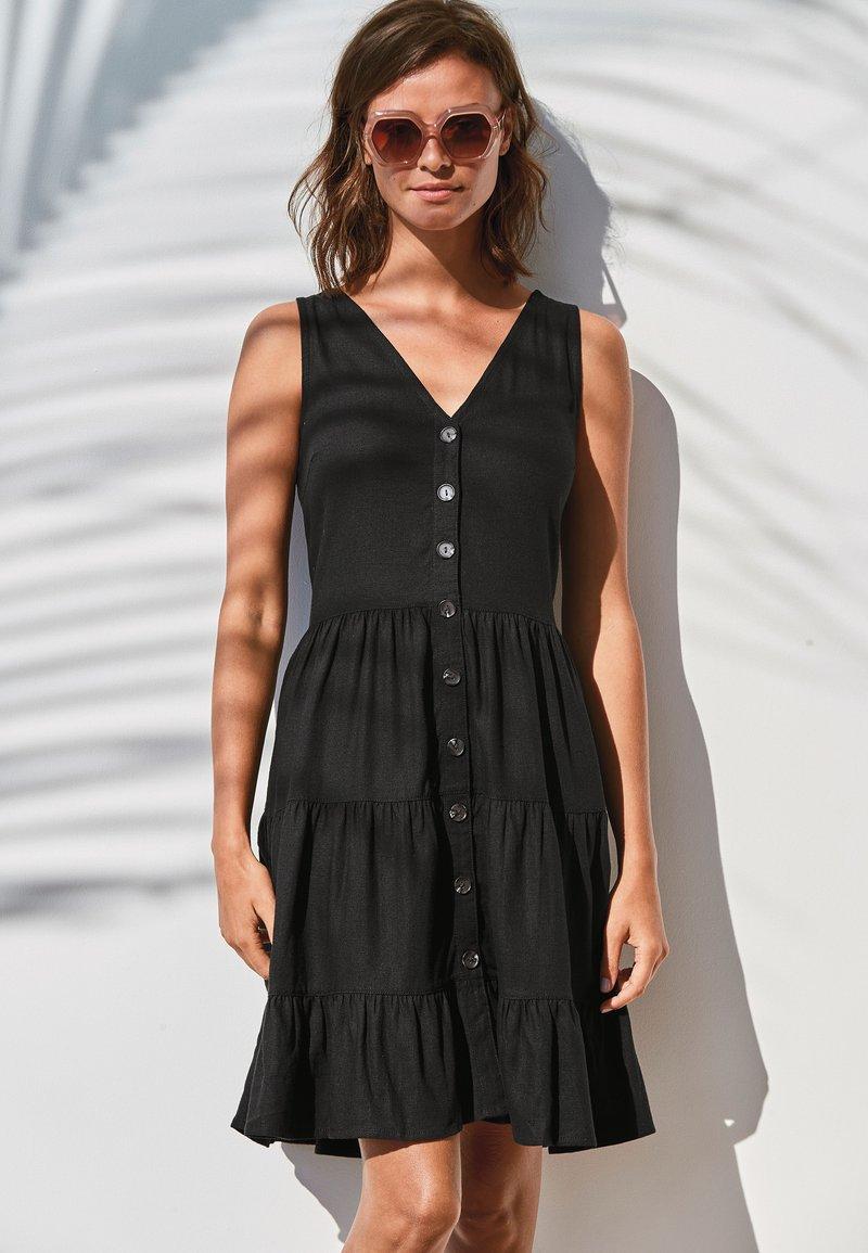 Next - TIERED  - Day dress - black