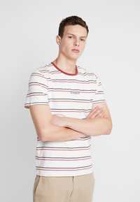 Jack & Jones - JORDYED TEE CREW NECK REGULAR FIT - Print T-shirt - cloud dancer - 0