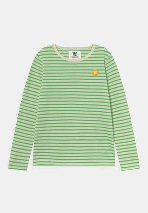 KIM LONG SLEEVE UNISEX - Pitkähihainen paita - off-white/green