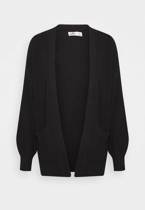 LONG LENGTH SHAKER CARDI - Cardigan - black