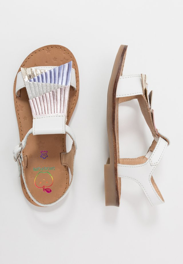 HAPPY FALLS - Riemensandalette - white/lila/blush