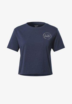 LES MILLS® CROPPED T-SHIRT - T-shirt z nadrukiem - blue