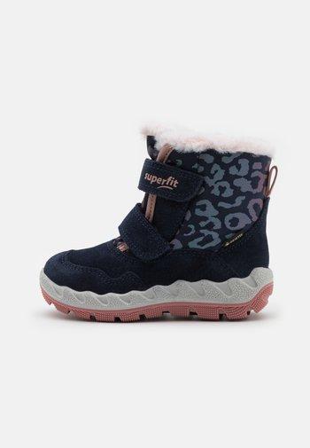 ICEBIRD - Snowboots  - blau/rosa