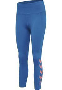 Hummel - HMLMACI HIGH WAIST 7/8  - Leggings - mykonos blue - 4