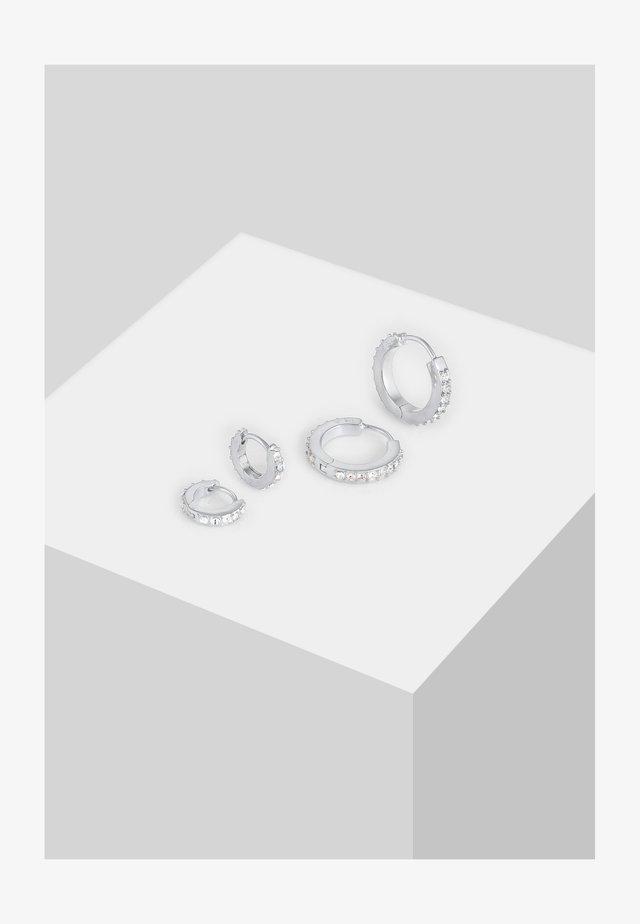 GLASS CRYSTAL - Boucles d'oreilles - silber