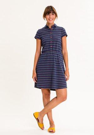 Shirt dress - dunkelblau mit bunten streifen