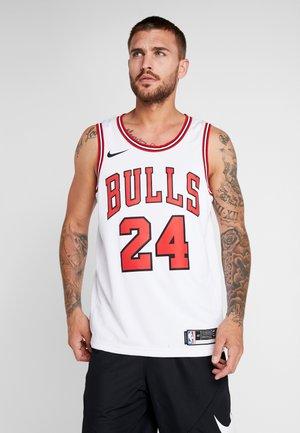 NBA CHICAGO BULLS LAURI MARKKANEN SWINGMAN - Club wear - white/university red/black