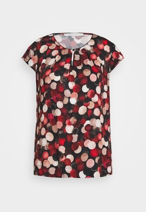 Blouse - black/red
