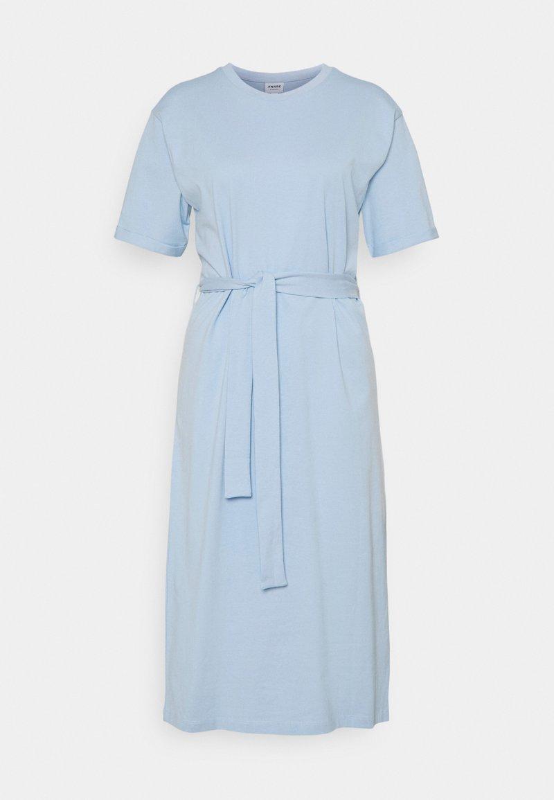 Vero Moda Tall - VMOLIVA O NECK DRESS - Jersey dress - cashmere blue