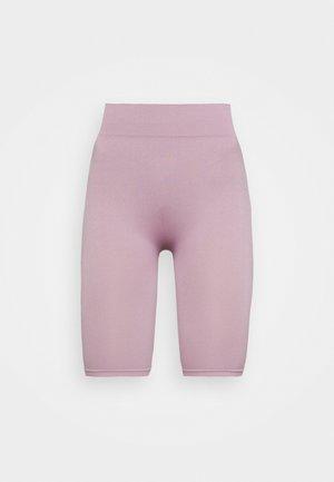 SEAMLESS RIB CYCLING SHORTS - Shorts - purple