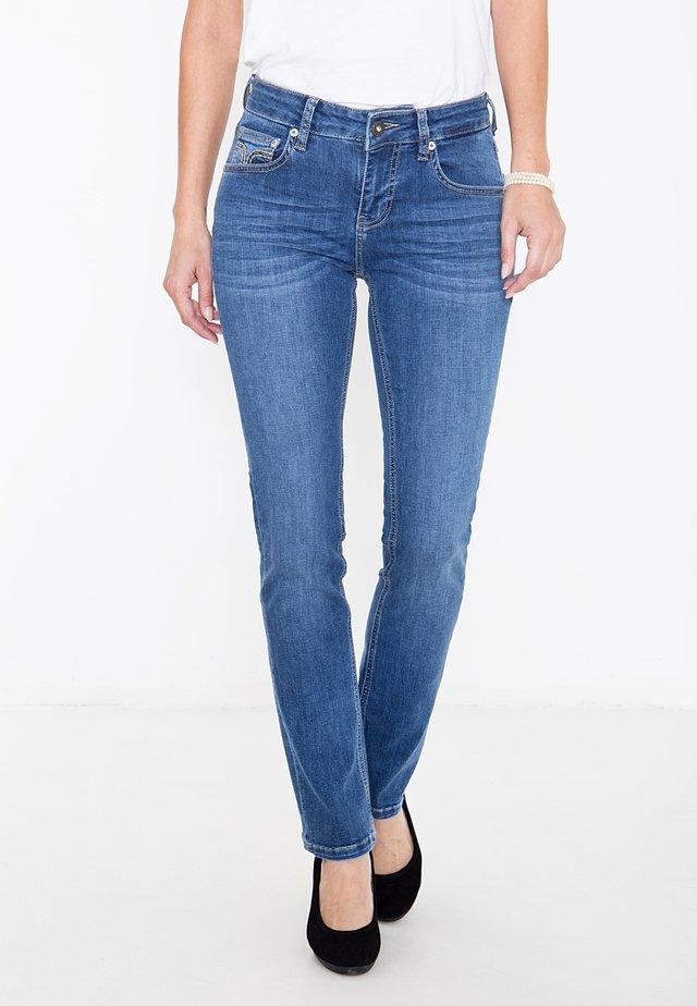 MIT ZIERS - Slim fit jeans - mittelblau