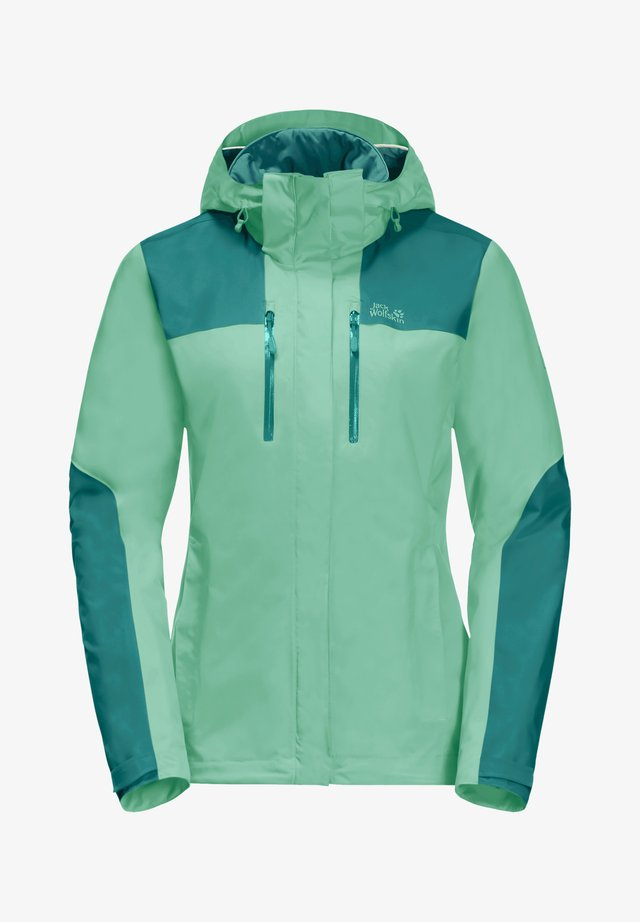 JASPER JKT W - Waterproof jacket - pacific green