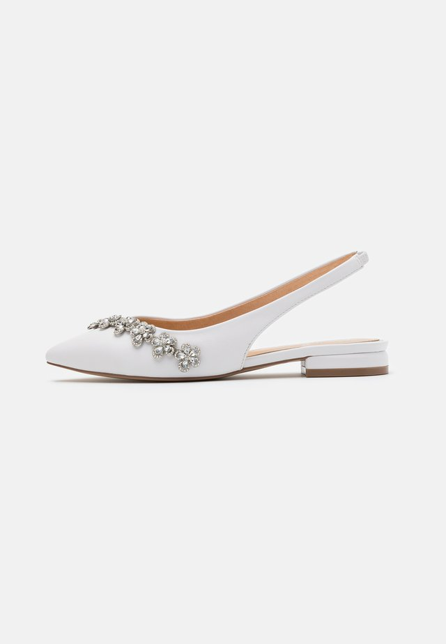 JOURNEY - Slingback ballet pumps - white