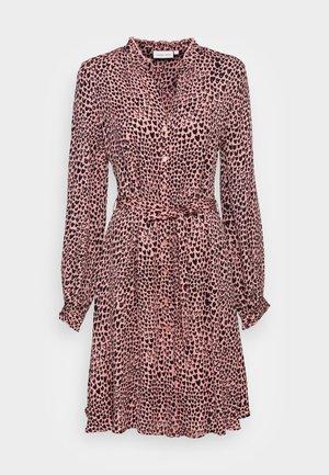DORIEN FRILL DRESS - Shirt dress - lovely pink/black