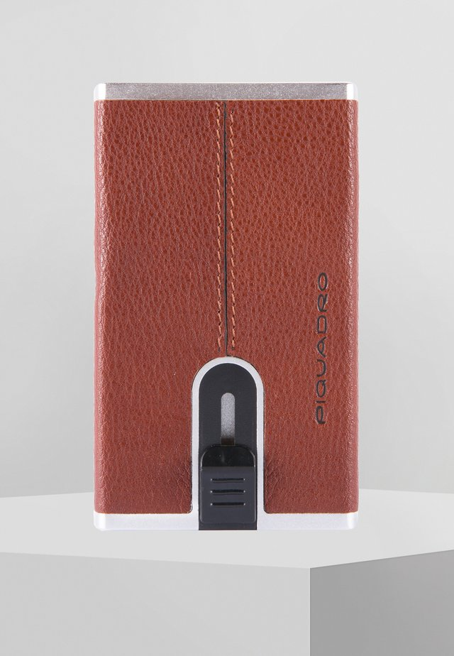 SQUARE - Business card holder - brown