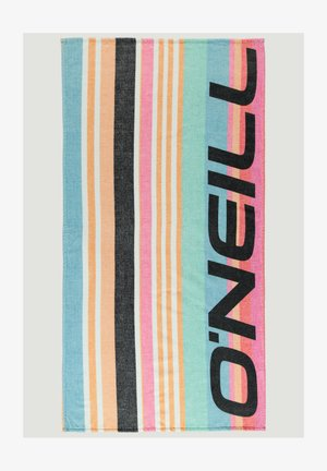 Beach towel - blue with pink or purple