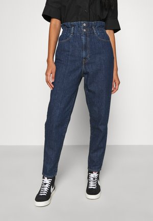 HIGH WAISTED PAPERBAG - Relaxed fit jeans - short fused