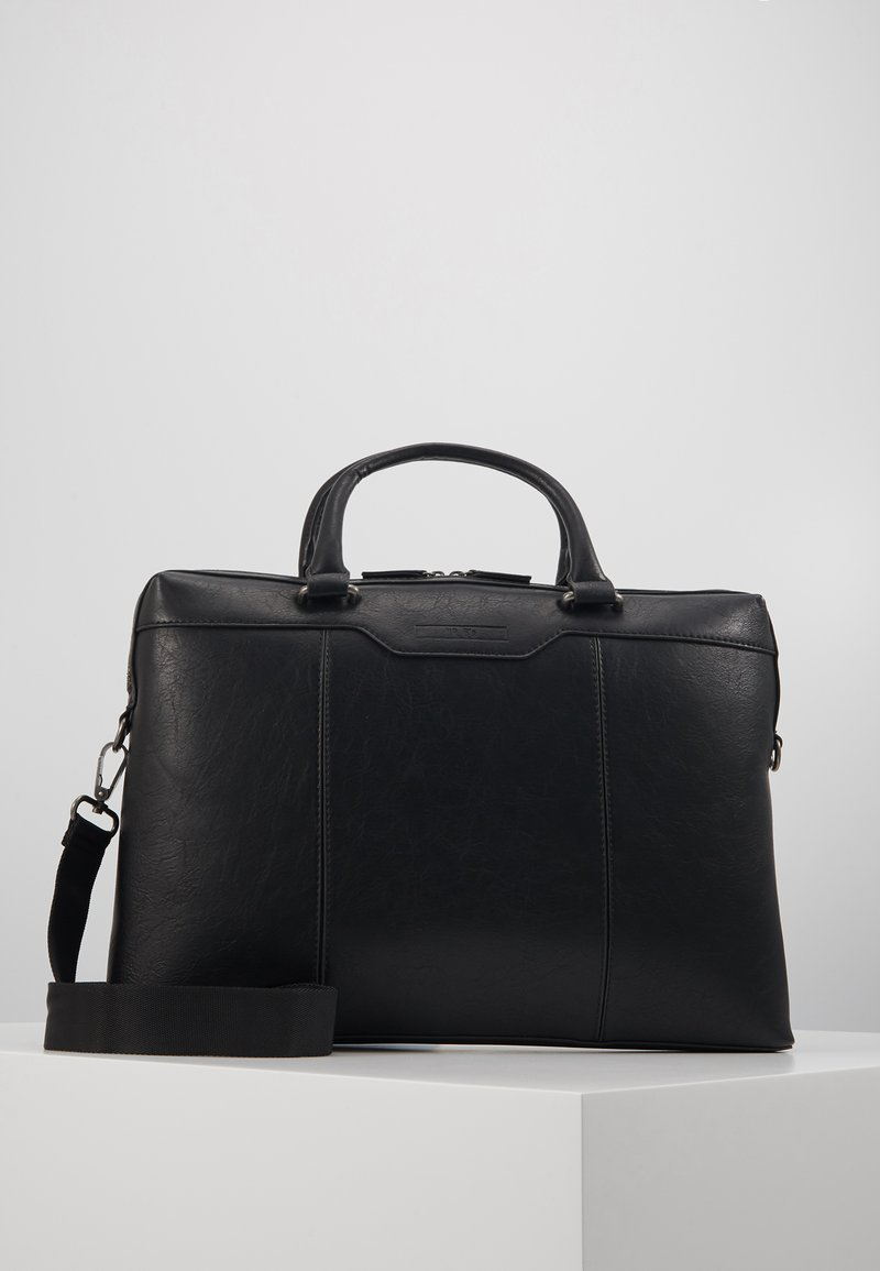 ALDO - GLAEVEN - Briefcase - jet black/antique silver