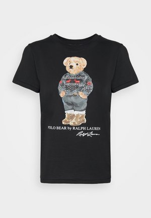 SKI SLEEVE - Print T-shirt - polo black