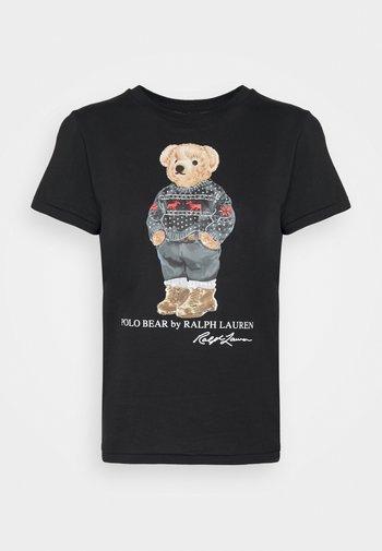 SKI SLEEVE - T-shirt con stampa - polo black
