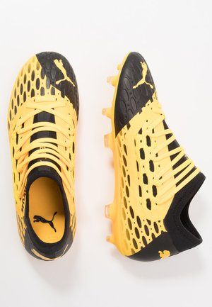 FUTURE 5.3 NETFIT FG/AG - Moulded stud football boots - ultra yellow/black