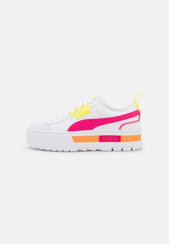 MAYZE CLIGHTS - Trainers - white/beetroot purple