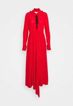 RUFFLE COLLAR DRESS - Vestito lungo - bright red