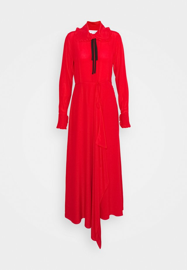 RUFFLE COLLAR DRESS - Maxi-jurk - bright red