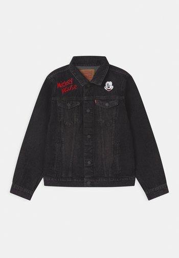 MICKEY MOUSE TRUCKER UNISEX - Denim jacket - washed black
