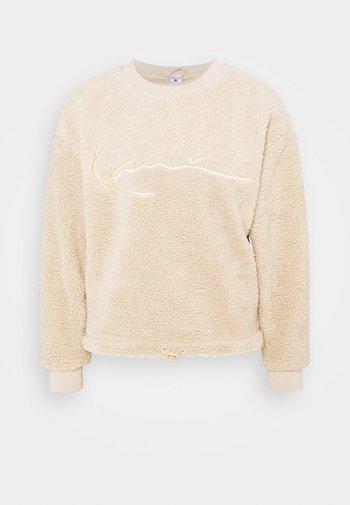SIGNATURE CREW - Sweatshirt - sand