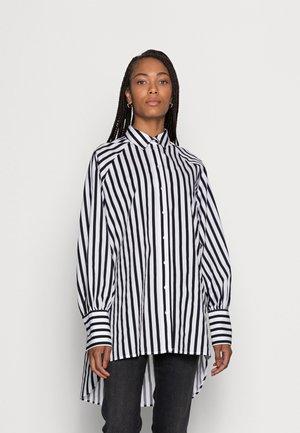 SLFTILDA LS LONG SHIRT STRIPE - Button-down blouse - black