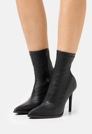 STILETTO SOCK BOOT - Classic ankle boots - black