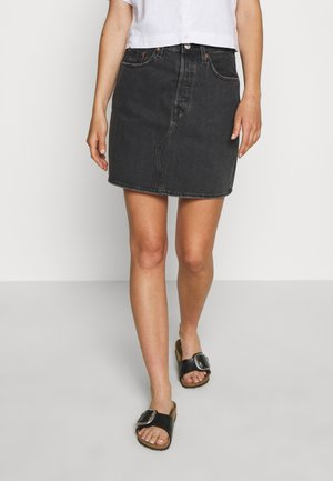 DECON ICONIC SKIRT - A-line skirt - black denim