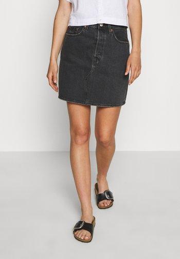 DECON ICONIC SKIRT - Mini skirt - black denim