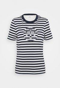 Tory Burch - STRIPED LOGO  - Camiseta estampada - navy - 3