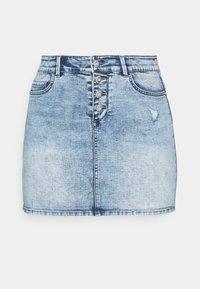 ONLCARMEN LIFE SKIRT - Mini skirt - medium blue denim