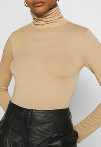 Gina Tricot - GIANNA POLO - Long sleeved top - tannin - 5