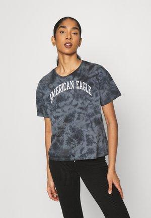 TIE DYE BRANDED  - Print T-shirt - black