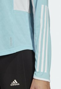 adidas Performance - OWN THE RUN 3-STRIPES RUNNING LONG-SLEEVE TOP - Long sleeved top - blue - 4