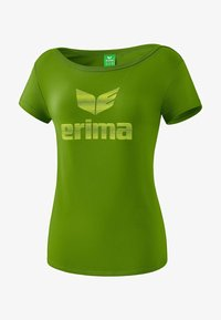 Erima - ESSENTIAL T-SHIRT DAMEN - Print T-shirt - twist of lime / lime - 0